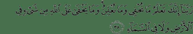 Surat Ibrahim Ayat 38