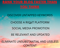 Rank your blog faster