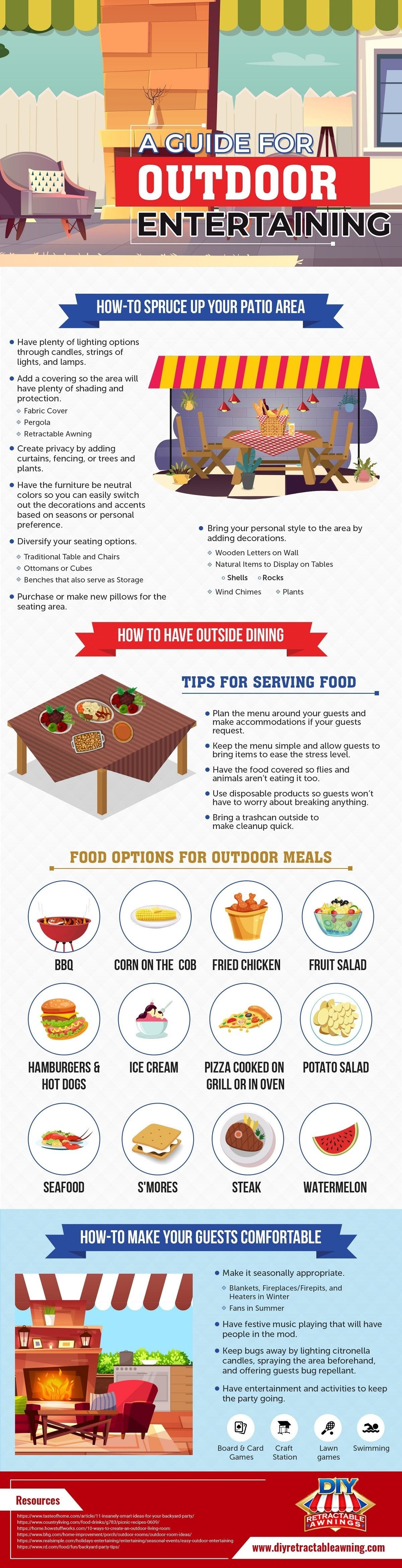 A Guide For Outdoor Entertaining #infographic