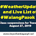 Weather Update and Live List of #WalangPasok: Class suspensions for Tuesday, Aug 27