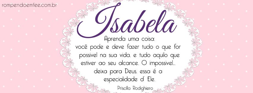 Significado do nome isabela