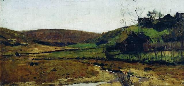 Исаак Ильич Левитан - Деревня. Хотьково. 1890-е
