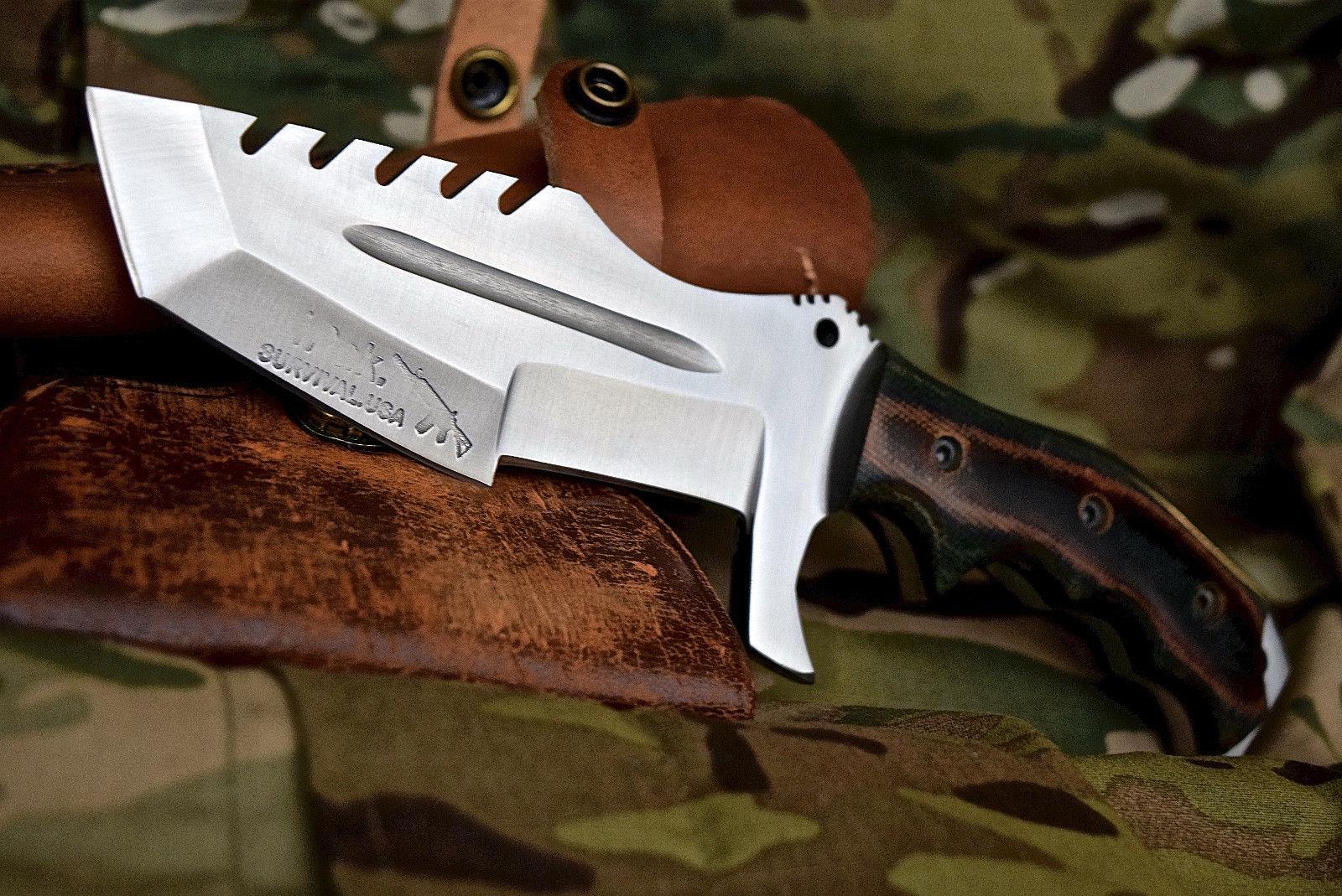 CFK IPak Custom Handmade D2 ARTEMIS Small Tracker Tanto Survival Tactical Knife