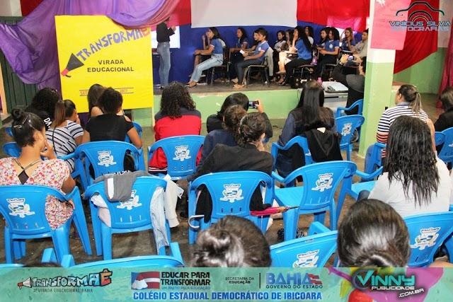 Colégio Estadual de Ibicoara realiza atividades e oficinas do Projeto #TransformaÊ