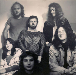 Mammal, 1974. Clockwise from left Mark Hornibrook, Rick Bryant, Robert Taylor, Tony Backhouse, Kerry Jacobson, Julie Needham