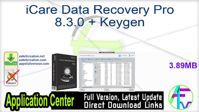 iCare Data Recovery Pro 8.3.0 + Keygen