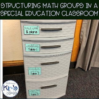 Structuring Math Groups in a Special Needs Classroom