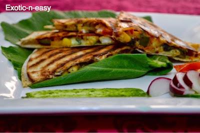 Crispy Tortilla with Assorted veggies