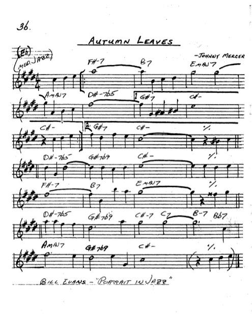 Partitura Saxofón Johnny Mercer