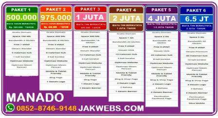 Harga Jasa pembuatan website Manado