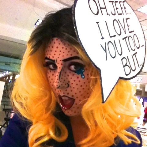 Roy Lichtenstein Halloween Costume.Pop Art Costume Roy Lichtenstein Pop Art Costume