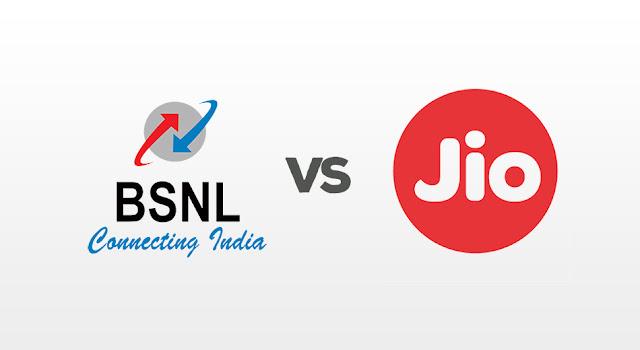 BSNL v/s Jio logo image