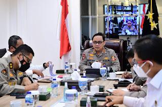 Kabaharkam Polri Dampingi Wakapolri Vicon dengan Kapolda se-Indonesia
