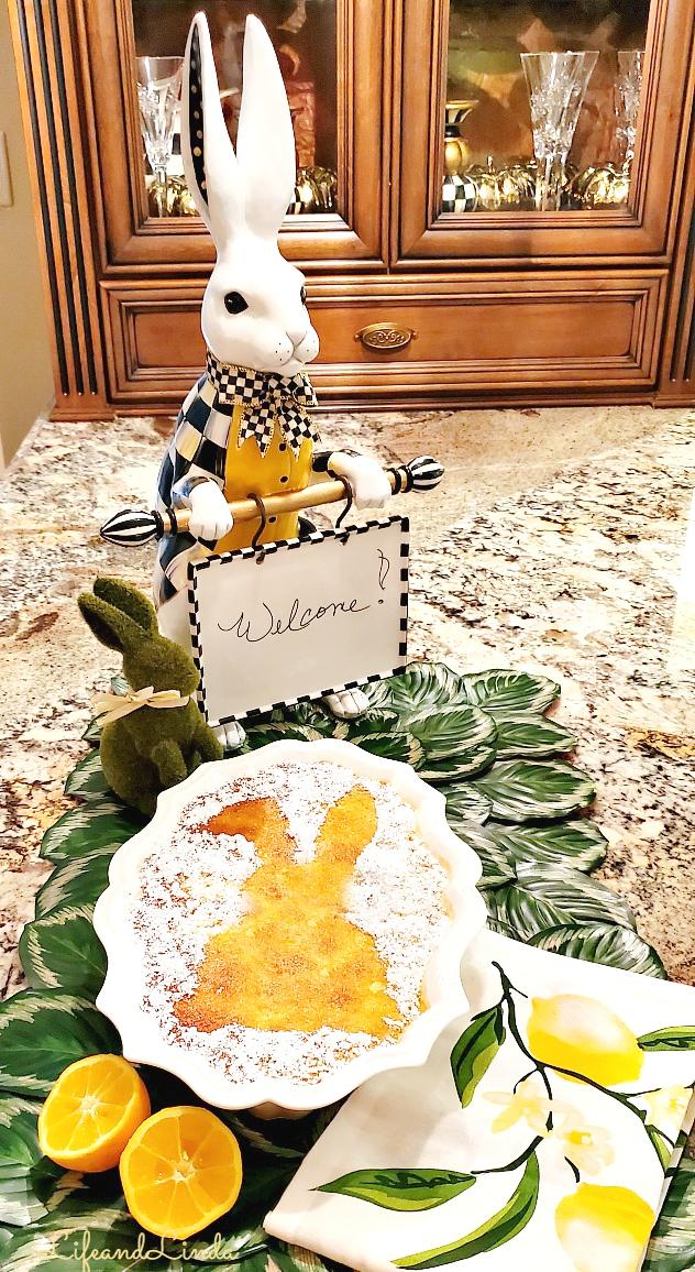 Bunny Lemon Pudding Cake