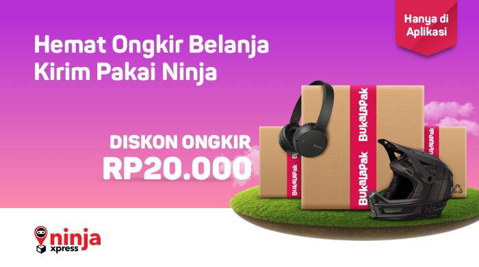 Bukalapak - Promo Hemat Ongkir Belanja Pakai Ninja Express (S.d 31 Okt 2018)