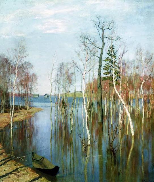 Исаак Ильич Левитан - Весна. Большая вода. 1897