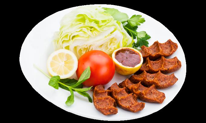 Kebab Çiğ köfte Kofta Middle Eastern cuisine Dürüm, pepper steak, leaf Vegetable, food png by: pngkh.com