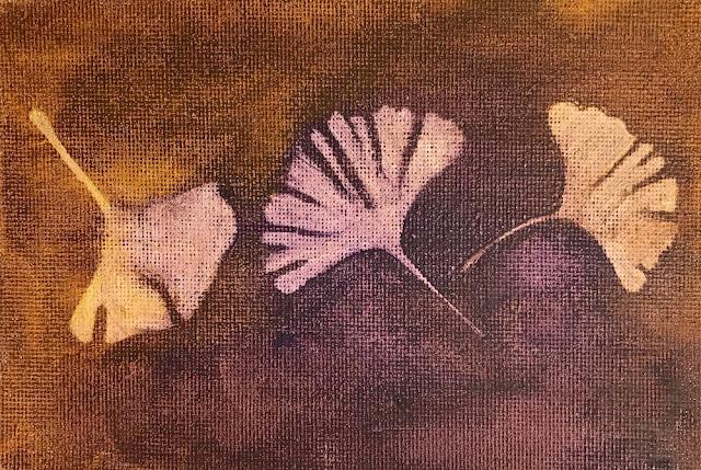 gingko leaf stencil lisa fulmer