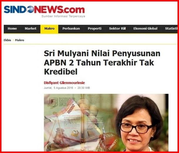 """Wake Up Call"" Sri Mulyani Bangunkan Mimpi Jokowi"