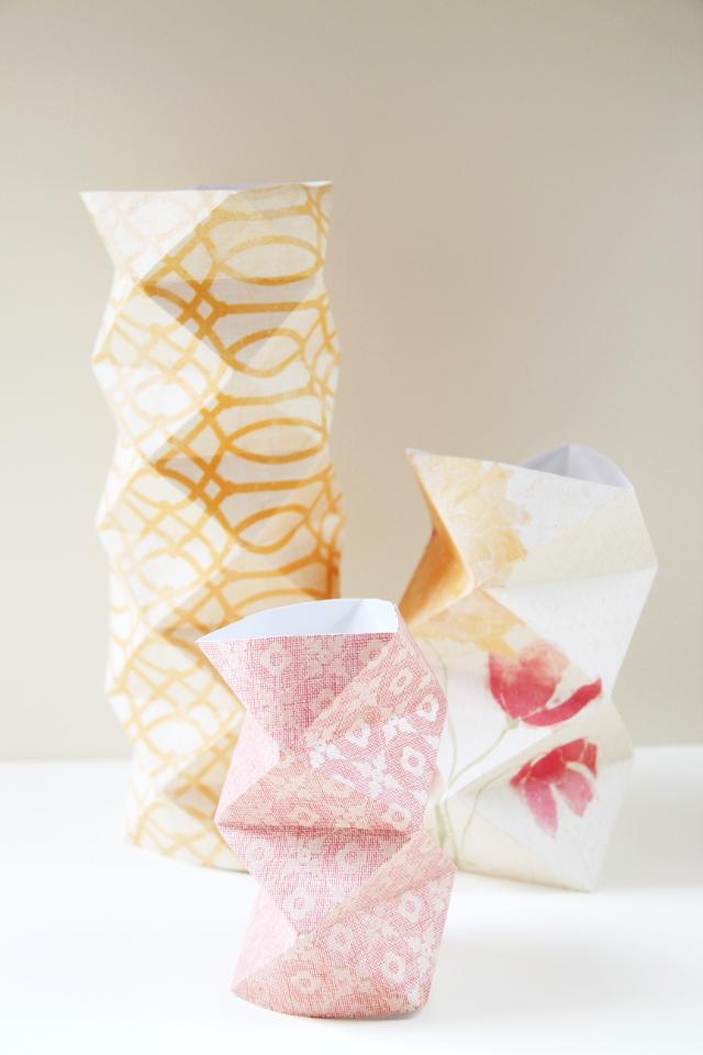 Diy Origami Paper Vases