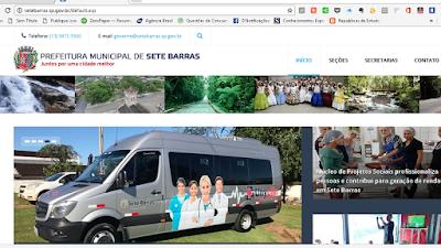 Prefeitura de Sete Barras coloca no ar novo site