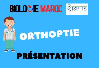 ORTHOPTIE -ISPITS- Présentation générale