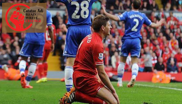 Gerrard terpeleset waktu melawa Chelsea