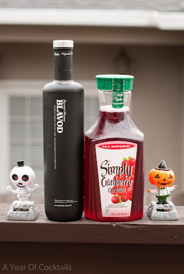 Black Vodka, vodka, cranberry juice, halloween, halloween cocktail, layered shot