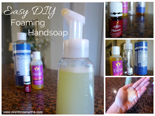 Antibacterial Foaming Hand Soap - 25 Essential Oil DIYs RoundUp