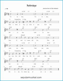 chord yesterdays lagu jazz standar