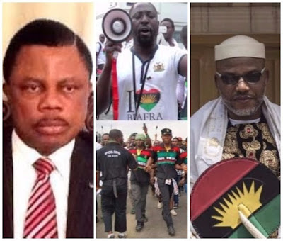 "IPOB individuals ""assault"" Governor Obiano in  church, chant 'no election in Anambra'"