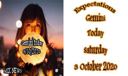 توقعات برج الجوزاء اليوم 3/10/2020 السبت 3 أكتوبر / تشرين الأول 2020 ، Gemini