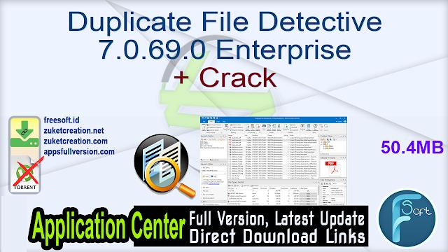 Duplicate File Detective 7.0.69.0 Enterprise + Crack