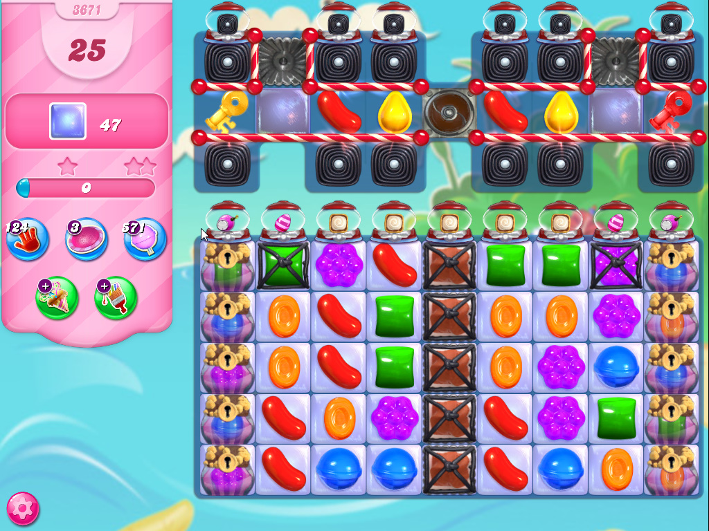 Candy Crush Saga level 3671