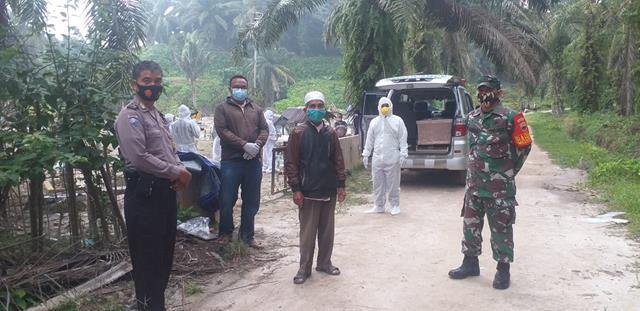 Prosesi Pemakaman Cecara Prokes Warga Binaan Turut Serta Dihadiri Personel Jajaran Kodim 0208/Asahan