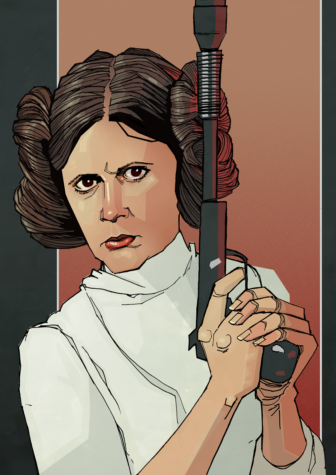 Carrie Fisher Star Wars drawing