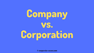 company vs corporation difference