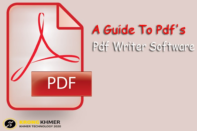 A Guide To Pdf's & Pdf Writer Software