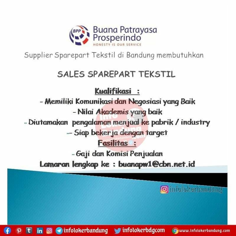 Lowongan Kerja Buana Patrayasa Prosperindo Bandung Februari 2021
