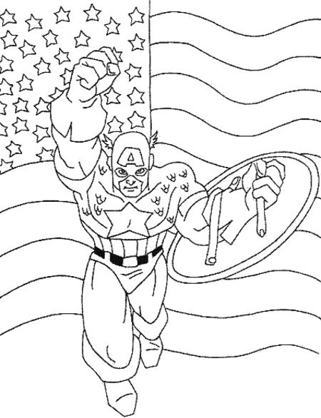 disney captain america coloring pages - photo#17