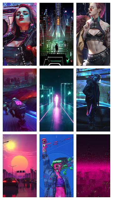 cyberpunk outrun overdrive retrowave futuristic