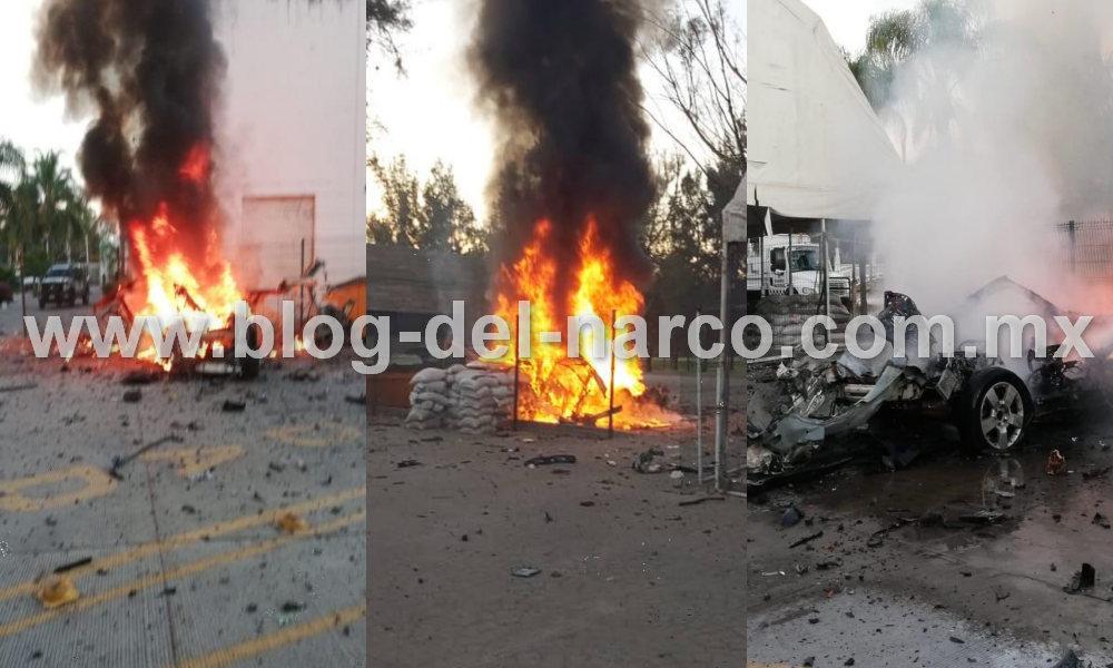 Explota carro bomba en las instalaciones del cuartel de la Guardia Nacional en Celaya, Guanajuato; hay 2 heridos
