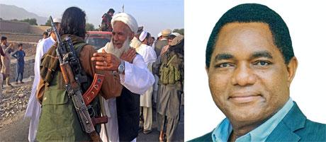Kundi la Taliban na Rais wa Zambia Hichilema