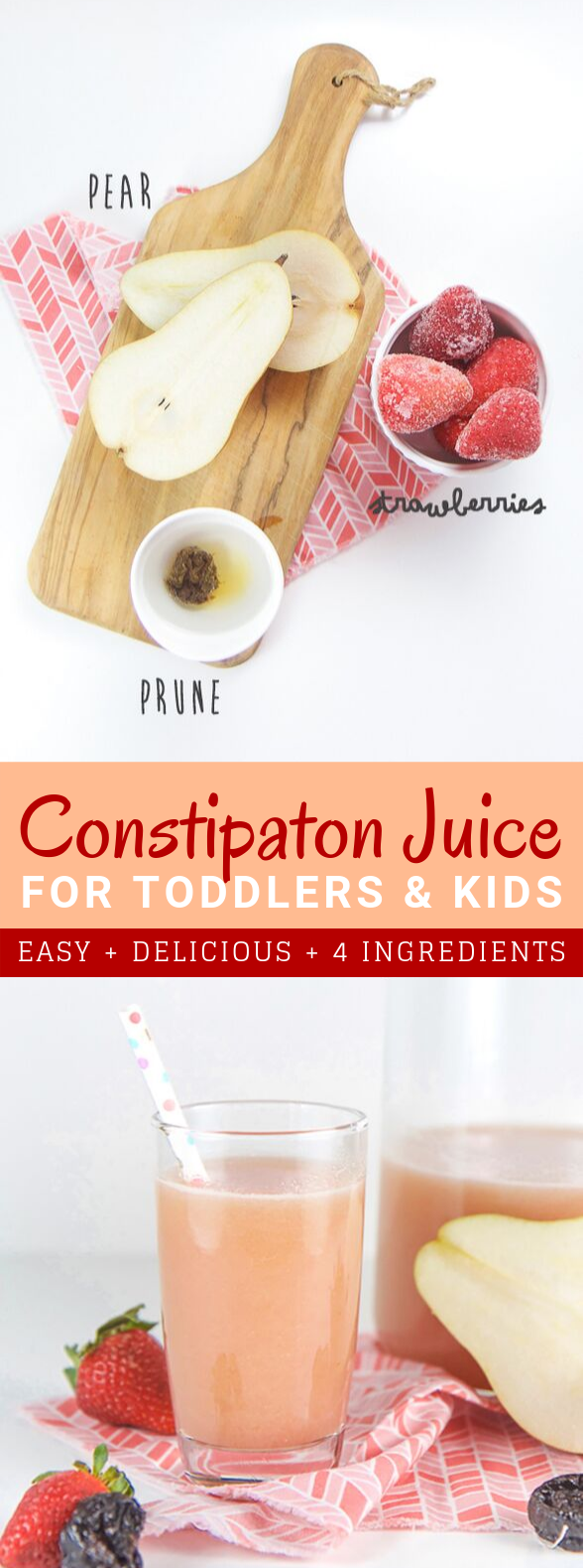 HOMEMADE CONSTIPATION JUICE FOR TODDLERS + KIDS (THAT THEY WILL LOVE TO DRINK!) #drinks #kidfriendly