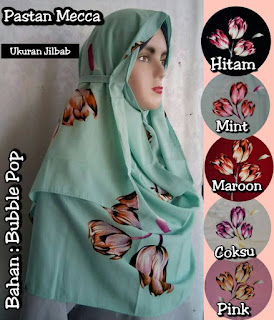 Pashmina Instan Model Terbaru Bahan Bubble Pop