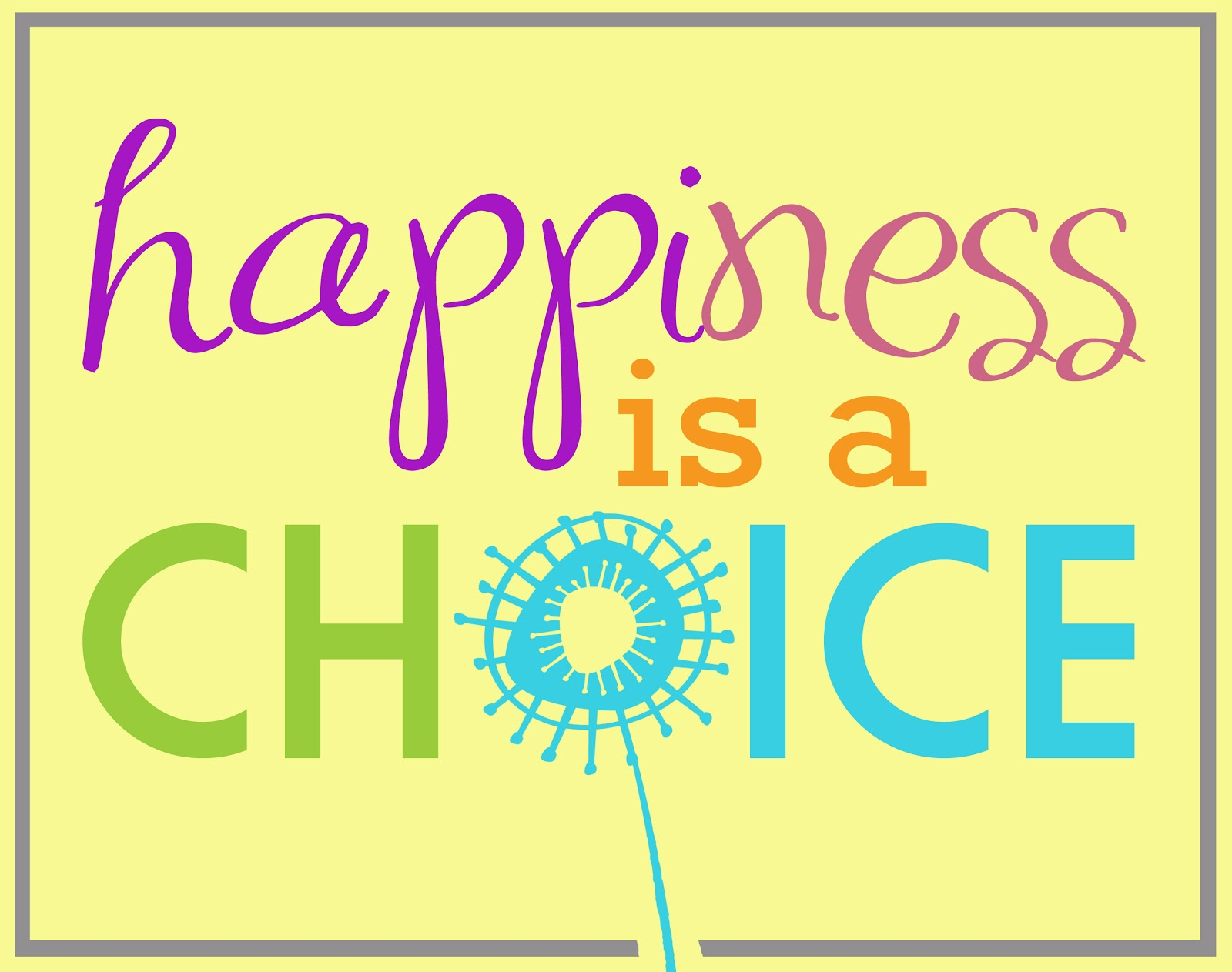 Capital B: Happiness Is A Choice