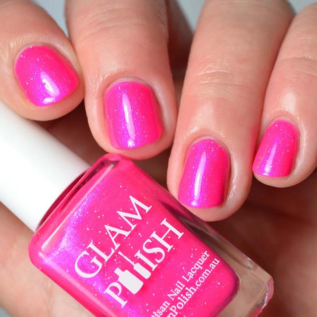 fuchsia pink nail polish swatch