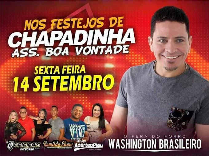 A tradição continua WASHINGTON BRASILEIRO dia 14 de setembro em Chapadinha