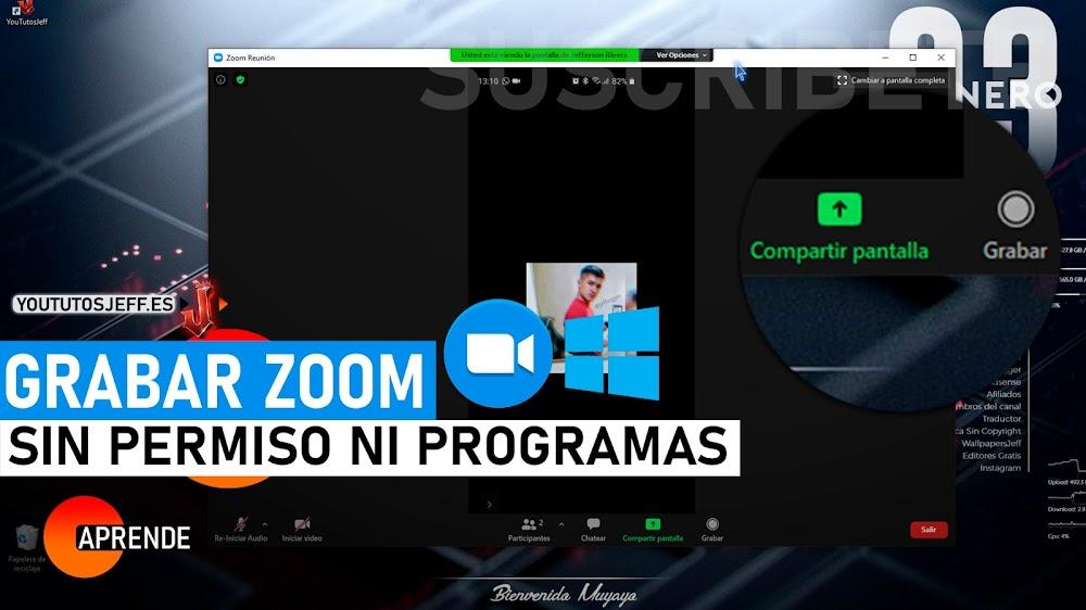 Como Grabar ZOOM Sin Permiso y Sin Programas