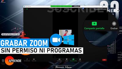grabar zoom sin programas